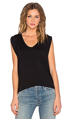 Velvet by Graham & Spencer Anaya Modal Knit Scoop Neck Tank in Black