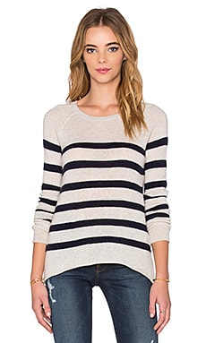 Velvet by Graham & Spencer Arlette Sheer Cashmere Long Sleeve Top in Ink