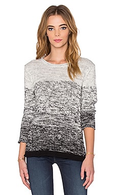 Eldora Ombre Cotton Long Sleeve Top in Marled