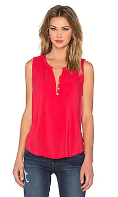 Velvet by Graham & Spencer Eleanor Rayon Challis Three Button Tank in Redmond