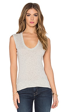 Estina Gauzy Whisper Classics Scoop Neck Tank in Heather Grey