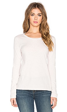 Velvet by Graham & Spencer Kilia Cotton Slub Long Sleeve Top in Blush Pink