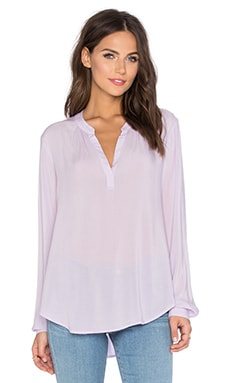 Rosie Rayon Challis Long Sleeve Top en Orchid