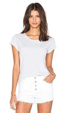 Odelia Cotton Slub Crew Neck Tee in Capri