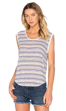 Devi Stripe Texture Knit Tee in Multi
