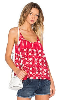 Velvet by Graham & Spencer Harlow Atlantis Print Scoop Neck Tank in Red