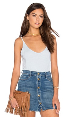 Emmalee Cotton Slub V Neck Tank in Anchor