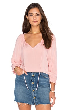 Kimberly Rayon Challis Top en Roseberry