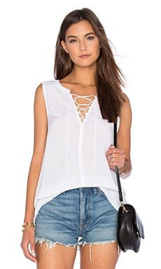 Velvet by Graham & Spencer Leonna Rayon Challis Tank in White