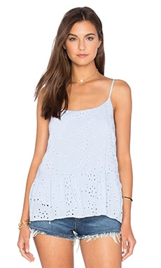 Marisa Rayon Eyelet Tank in Billow