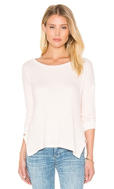 Adya Thermal Knit Pullover in Light Pink