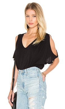 Jay Modal Knit V Neck Top in Black