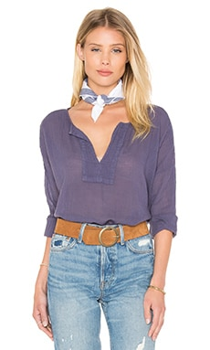 Velvet by Graham & Spencer Kathleen Cotton Gauze Top in Cavern