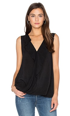 Velvet by Graham & Spencer Britt Ruffle Tank in Black