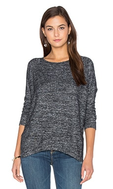 Velvet by Graham & Spencer Cade Long Sleeve Crew Neck Top in Marled