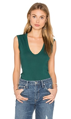 Estina Scoop Neck Tank in Alpine