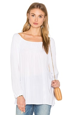 Velvet by Graham & Spencer Harriette Long Sleeve Top in White
