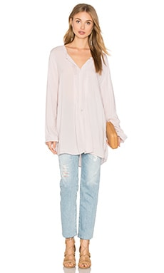 Velvet by Graham & Spencer Shea Long Sleeve Blouse in Bisque