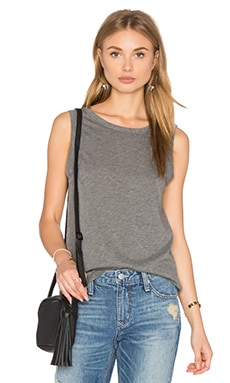 Velvet by Graham & Spencer Taurus Crew Neck Tank in Medium Heather Grey
