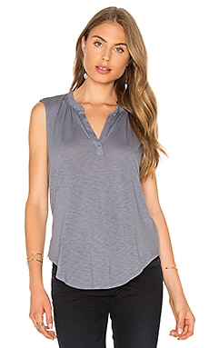 Velvet by Graham & Spencer Cleo V Neck Top in Coal