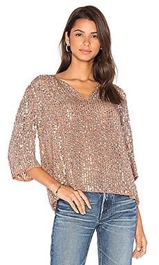 Wenn Sequin Top in Deep Taupe