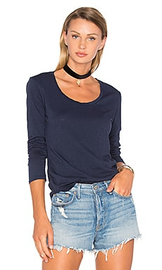 Adiel Long Sleeve Scoop Neck Top en Français