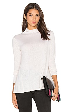 Velvet by Graham & Spencer Waverly Long Sleeve Turtleneck Top in Candle