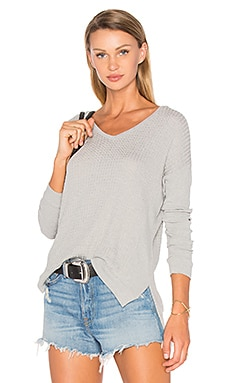 Velvet by Graham & Spencer Zaidee Long Sleeve Top in Heather Grey