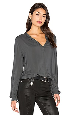 Rosie V Neck Top in Asteroid