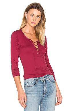 Mandee Lace Up Top in Marc