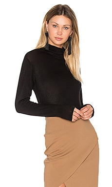 Bamma Turtleneck Top in Black
