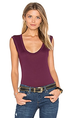 Estina Scoop Neck Tank in Blackberry