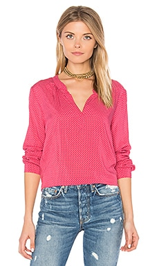 Jena V Neck Blouse in Cherry