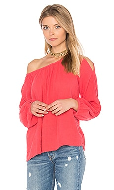 Marcelle Cold Shoulder Top in Mars