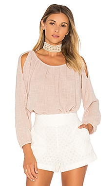 Marcelle Cold Shoulder Top in Candy