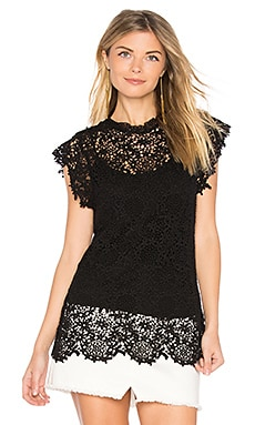 Allie Lace Top in Black