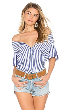 Alyss Button Down in Blue