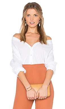 Minnie Button Down in White