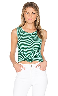 Norma Mini Stripe Tank in Jade