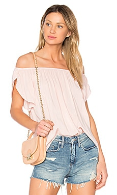 Caris Off the Shoulder Top in Roses