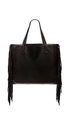 Velvet by Graham & Spencer Toto Fringe Tote in Black