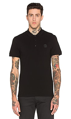 VERSACE Polo in Black & Print
