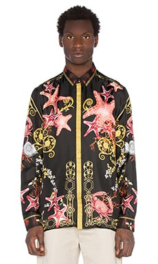 VERSACE Trend Shirt in Black & Print