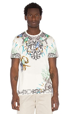 VERSACE Roundneck Tee in White & Print