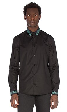 VERSACE Camicia New Trend Button Down in Black