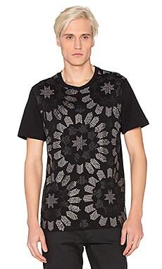 VERSACE Studded Print Tee in Black