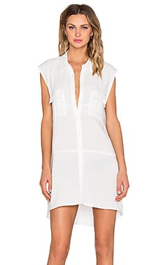 Rocket Shirt Dress in White