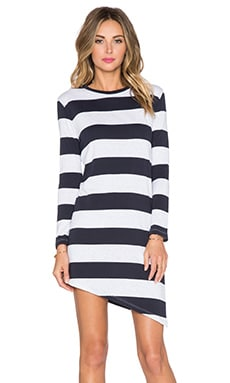 Viktoria + Woods Tulum Asymmetric Dress in Oxford Marl Stripe