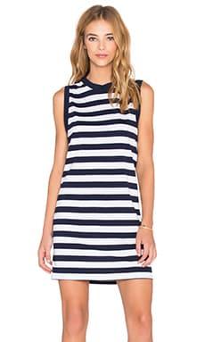 Viktoria + Woods Toronto Tank Dress in Navy & White Stripe