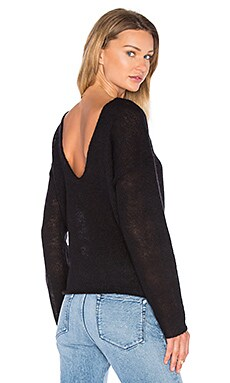 Viktoria + Woods Champion Open Back Sweater in Black